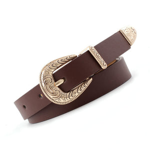 105x1.8cm Retro female white golden buckle women's belt waistband 2019 punk womens leather belts designer brand belts luxuryN125