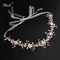 Flowers Wedding Headpieces Handmade Bridal Hair Accessories Jewelry Crown