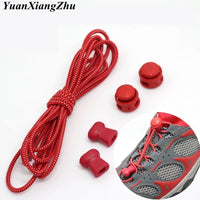 1Pair Stretching Lock Lace 23 colors Sneaker ShoeLaces Elastic Shoe Laces Quick