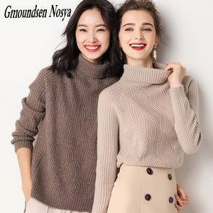 2019new sweater women pullover women turtleneck Cashmere sweater Slim fashion knitted sweater  winter clothes women  sweaters
