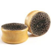 JUNLOWPY Wooden Tunnels Wood Ear Stretchers Plugs and Tunnels Double Flare Earrings