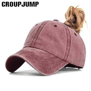 2019Ponytail Baseball Cap Women Vacation Snapback Cotton comfort Summer Hats Casual Sport Caps Adjustable wholesale