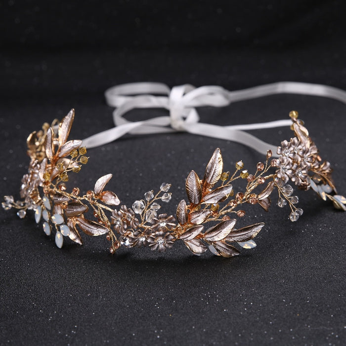 accessories for bride gold headband tiaras and bridal headpieces Flower