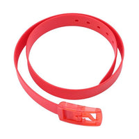 Candy Colors Eco-Friendly Plastic Belt Unisex Silicone Rubber Belt Korean Style Smooth Buckle For Women Men