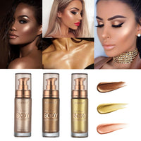 Colors 30ml Metallic Liquid Face& Body Luminizer Shimmer Highlighter Makeup