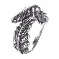 Kinitial Retro Long Rattan Knuckle Toe Finger Round Ring Leaf Cross Infinity Ring For Women Punk anillos mujer