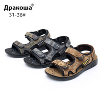 Apakowa Boys Open Toe Beach Camouflage Sandals Big Kids 3 Hook and Loop
