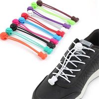Stretching Lock lace 12 colors a pair Of Locking Shoe Laces Elastic Sneaker