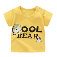 Summer Baby Boys T Shirt Cartoon Print Short Sleeve Newborn Girls T-shirts Cotton Infant T-shirt Casual Tee Tops Boy Shirt