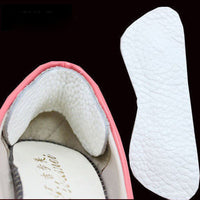 1 Pair Suede Heel Grips Shoe Boot Pad Protectors Comfort Liners Extra White