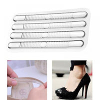 4pcs Chic Shoe Back Heel Inserts Silicone Gel Pads Cushion Liner Grips Adhesive