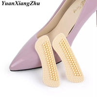 1Pair New Massage Silicone Inserts Fashion Soft Sticky Silica Gel Fabric Shoe Pads