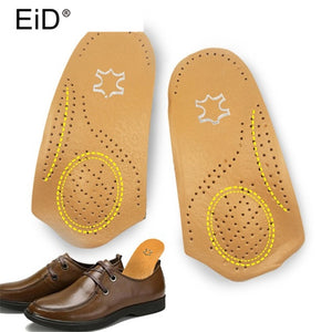 Leather Orthotics Insole for Flat Foot Arch Support 25mm Half pad orthopedic