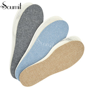 Soumit 3 Pairs/set Breathable Latex Insoles for Shoes Sweat Absorbing Insert Pad