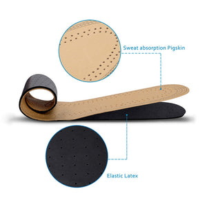 Demine Ultra Thin Leather Insoles Absorb Sweat Breathable Deodorant Shoe