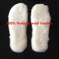 2018 Winter Unisex Insoles for Snow Boots Shoe Pad Real Fur Replacement