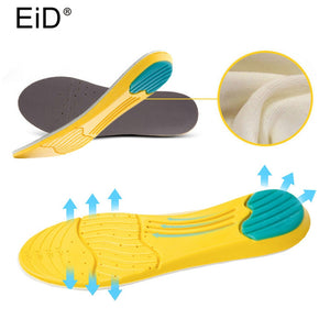 Memory foam sports Insole for shoes shock absorption breathable comfortable