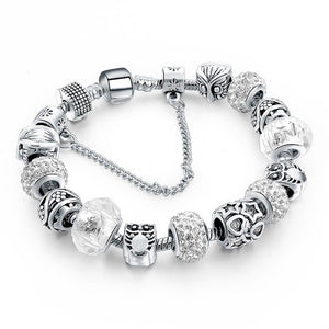 ATTRACTTO Black Promotion Heart Charm Bracelets For Women Crystal Bead