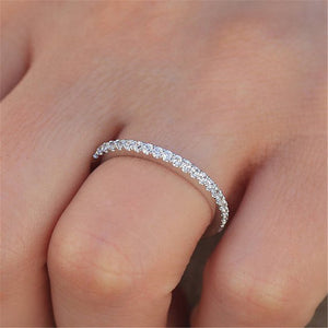 Modyle Hot Couple Wedding Ring for Women Single Row Cubic Zircon Ring
