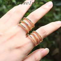 New Design 6Pcs Gold color fashion women jewelry colorful