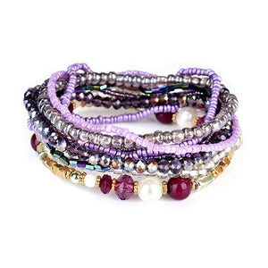 Bohemian Red Multi-layer Bracelets Bangles For Women Accessories Jewelry