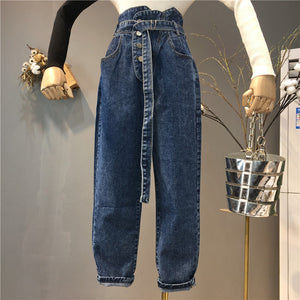 Autumn jeans women Fashion High Waist Loose Denim Jeans Female Harem Pants Trousers boyfriend jeans for women