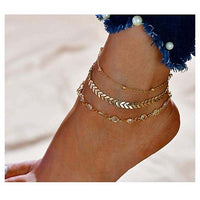 2019 Summer beach anklets Bohemian Shell Blue Stone Crystal Anklets/bracelets women fashion Jewelry Starfish anklets