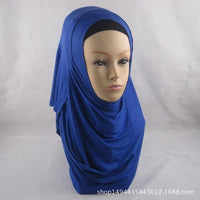 High Quality Double Loop Instant Hijab Modal Cotton Jersey Islam Scarf Shawl Turban Female Headscarf Bonnet Ready To Wear 1pc
