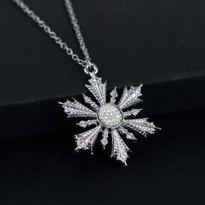 dongsheng Once Upon A Time Princess Elsa Snowflake Choker Necklace For Women Fashion Charms Snowflake Flower Pendants Necklaces