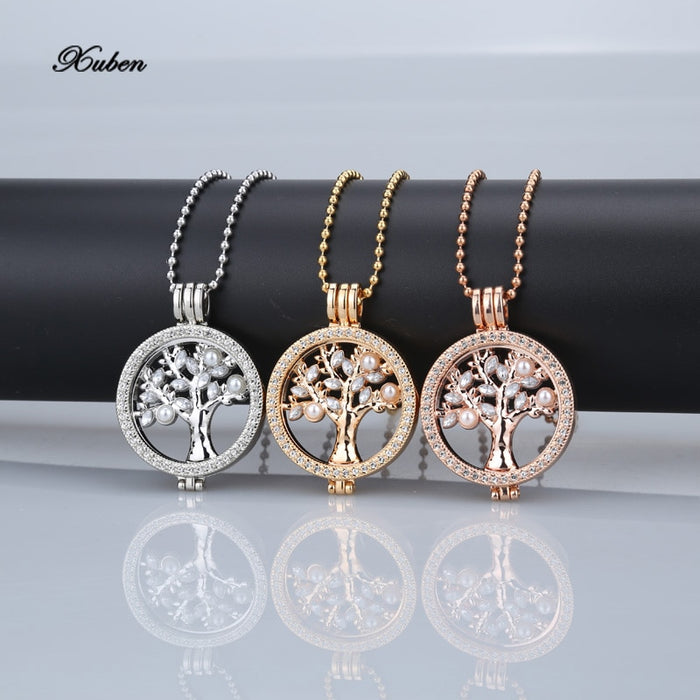 coin necklace set 35 holder fit my 33mm coin pendant disc interchangeable fashion women crystal 80cm bead chain long tree