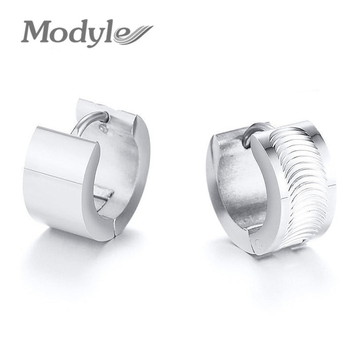 Huggie Earrings for Men Stainless Steel Hoop Earrings brincos masculinos