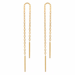 Silver Gold Plating Tassel Threader Earrings Long Chain Ear Line Jewelry
