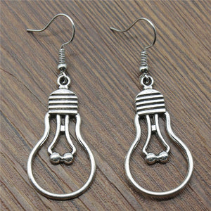36x19mm Simple Retro Thread Incandescent Bulb Charm Dangle Earring