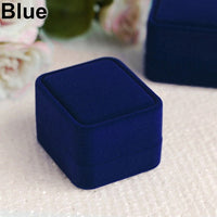 Hot attractive Velvet Necklace Ring Earring Jewelry Box Display Storage Organizer Box Case Gift