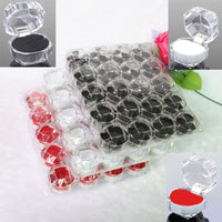 Mordoa 20pcs/lot 3 Color Options Hot Sale Jewelry Package Ring Earring Box Acrylic Transparent Wedding Packaging Jewelry Box