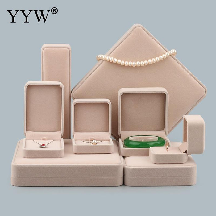 Velvet Jewelry Set Box Packing Gifts Box Wedding Necklace Bracelet Ring Pendant Jewelry Set Box Velveteen Sold By PC