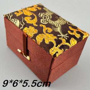 Rectangle Soft Small Silk brocade Box Gift Crafts Jewelry Storage Case Trinket Decorative Chinese Packaging Box  4pcs/lot