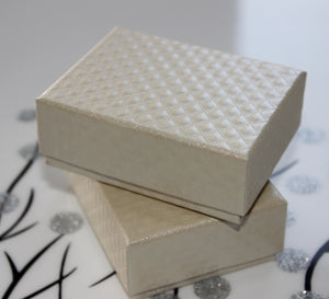 DoreenBeads Jewelry Box Wholesale Packaging Classic Beige Geometry Pattern Necklace Ring Box Gift Display 8.5*6.5*3.5cm 1 Piece
