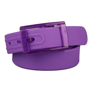 balck purple Eco-Friendly Plastic Belt Unisex Silicone Rubber Belt Smooth Buckle For Women Men Waist Strap Pin Buckle Harajuku