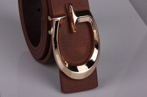 Women Casual Belt Fashion Smooth Buckle Brand Leather Belt For Girl Business Split Leather Belt Woman