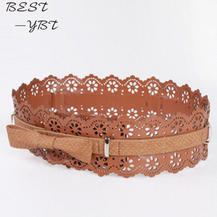 Hot Sweet Elegant Korean Fashion Lace Wide Belt Accessories Decorative Waistband Belts For Women Ceinture Femme