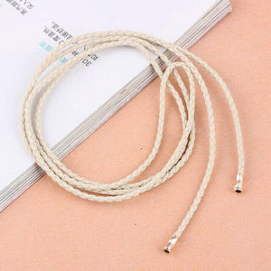 Women PU Leather Waist Belt Skinny Waist Chain Multi function Candy Colors Braid Rope Belt Female Belt Dress