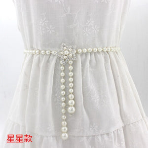 Elegant Women Pearls Elastic Wedding Belts handmade Bridal Belts Fashionable Pearl Beaded Bridal Sashes Wedding Accessories