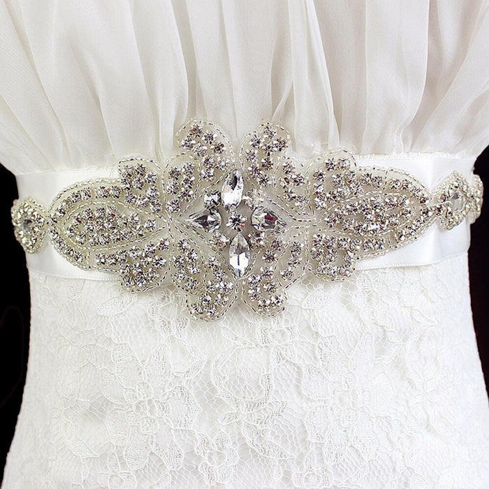 Crystal and Rhinestones Gown Dresses belt Accessories Wedding Belts for bride Bride Waistband Bridal Sashes