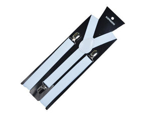 Men 3 Clips Braces Vintage Mens Women Suspender  For Skirt