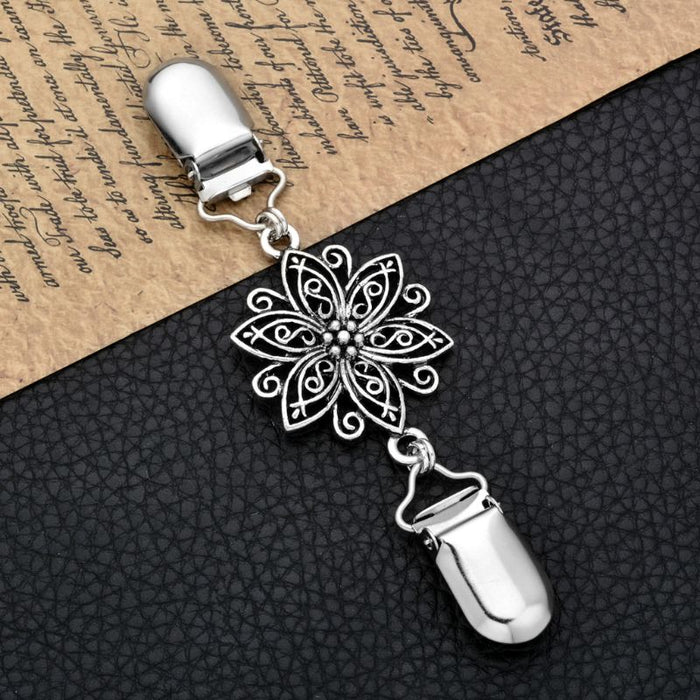 Retro Cardigan Clip Sweater Clip Women Filigree Cinch Back of Dresses Shawl Clip