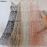 Summer Sexy Elegant Sequin Top Open Dress Women Sexy Long Dress Elegant Dress