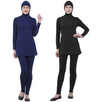 2019 Muslim Modest Swimsuits Plus Size Women Burkinis Beachwear