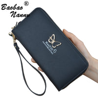 Wristlet Women Wallets Handbag 2019 New Cute Butterfly Chains Long Ladies Wallet Card Holders Phone Bag Purse for Girls Female