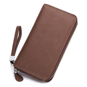 WESTCREEK Brand RFID Leather Men Passport Wristlet Travel Wallets Womens Wallets and Purses Female Clutch Bag